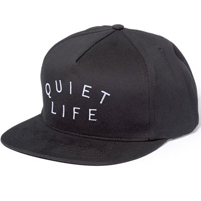 THE QUIET LIFE Snap Back Cap STANDARD black