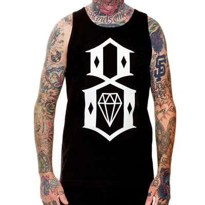 REBEL8 Tank Top LOGO 8 black