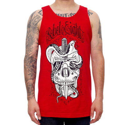 REBEL8 Tank Top STARDUST red