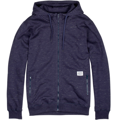 CLEPTOMANICX Hooded Zipper STASHER dark navy