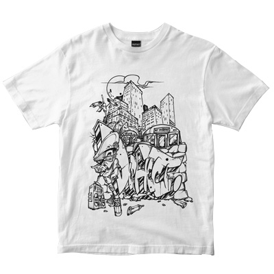 DEPHECT T-Shirt STAY UP white