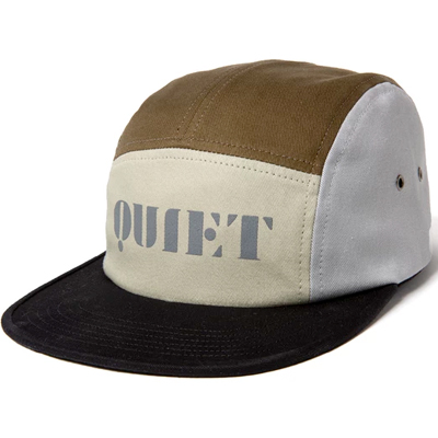 THE QUIET LIFE 5Panel Cap STENCIL black/tan/olive