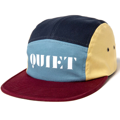 THE QUIET LIFE 5Panel Cap STENCIL burgundy/blue/yellow