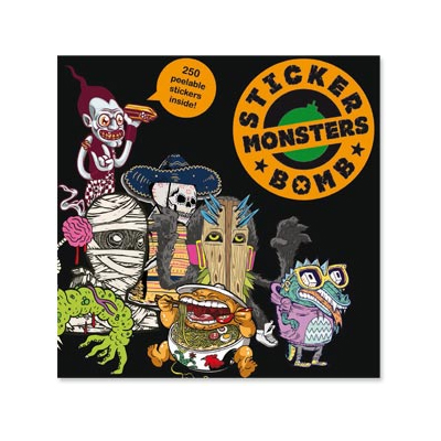 STICKER BOMB MONSTERS Book