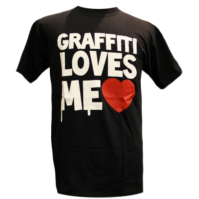 STILLALIVE T-Shirt GRAFFITI LOVES ME black