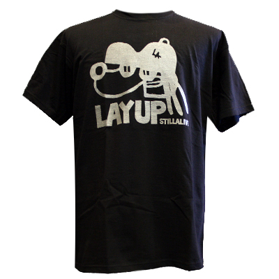 LAYUP X STILLALIVE T-Shirt DOG black