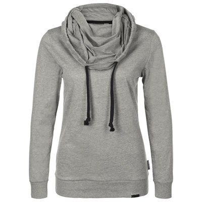STREETSPUN Girl Longsleeve Hoody BASIC heather grey