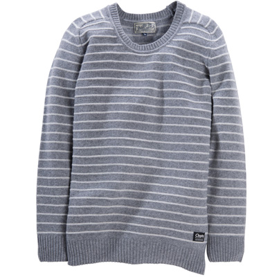 CLEPTOMANICX Knit Sweater STRIPE heather grey