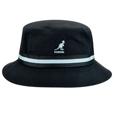 KANGOL Bucket Hat STRIPE LAHINCH black
