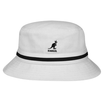 KANGOL Bucket Hat STRIPE LAHINCH white