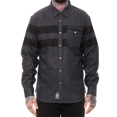 REBEL8 Shirt STRIPED dark grey/black
