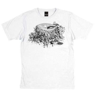 DEPHECT T-Shirt STUMP white