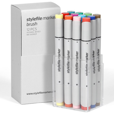 STYLEFILE Marker BRUSH 12er Set MAIN B
