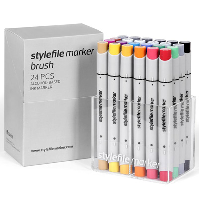 STYLEFILE Marker BRUSH 24er Set MAIN A