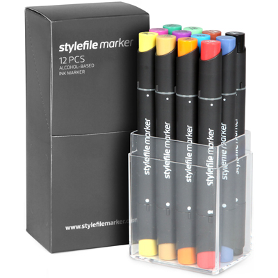 STYLEFILE Marker Set of 12 Main B
