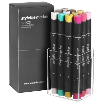 STYLEFILE Marker Set of 12 MULTI 24