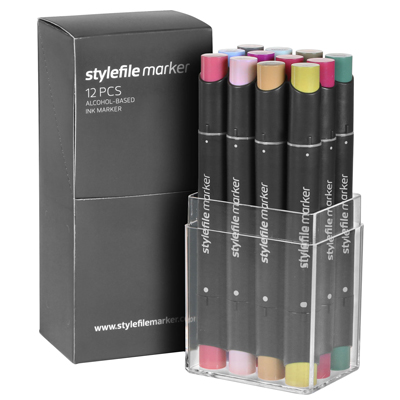 STYLEFILE Marker Set of 12 MULTI 20