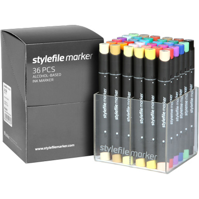 STYLEFILE Marker Set of 36 Main A