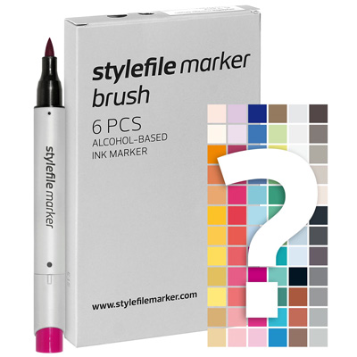 STYLEFILE Marker BRUSH Try Out Set of 6