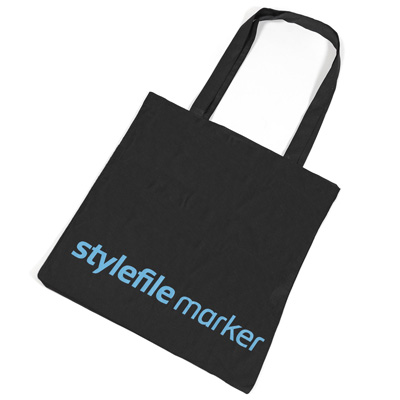 STYLEFILE MARKER Tote Bag LOGO black/blue