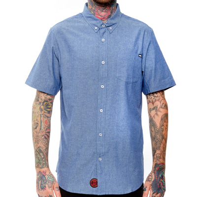REBEL8 Short Sleeve Shirt SUMMER CHAMBRAY blue
