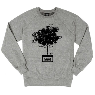 DEPHECT Sweater CASSETTE TREE heather grey