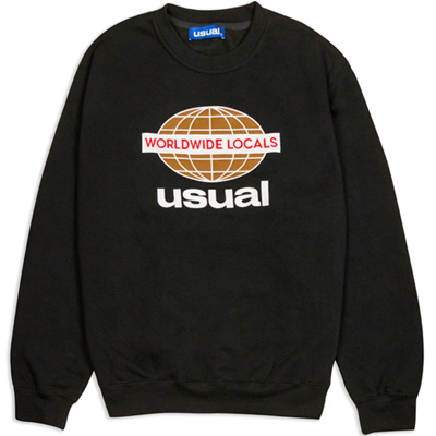 USUAL Sweater WORLDWIDE LOCALS black
