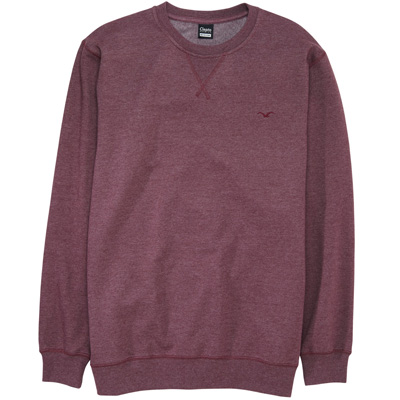 CLEPTOMANICX Sweater LIGULL II heather tawny port