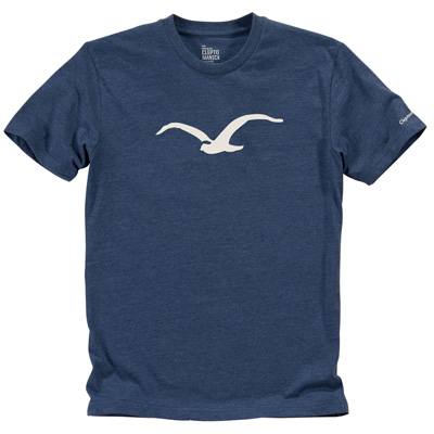 CLEPTOMANICX T-Shirt MÖWE heather blue/white
