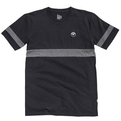 CLEPTOMANICX T-Shirt FIFTY-FIFTY PATCH black