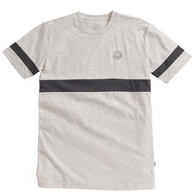 CLEPTOMANICX T-Shirt FIFTY-FIFTY PATCH heather creme