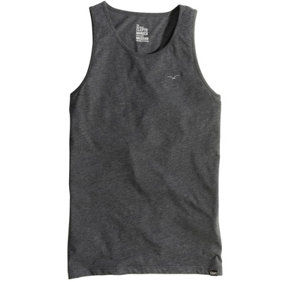 CLEPTOMANICX Tank Top LIGULL heather black