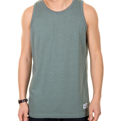 CLEPTOMANICX Tank Top PATCH heather olive green