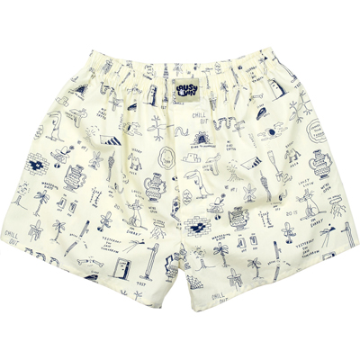 LOUSY LIVIN Boxershorts TATTOO II tender yellow