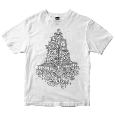 DEPHECT T-Shirt TEMPLE white