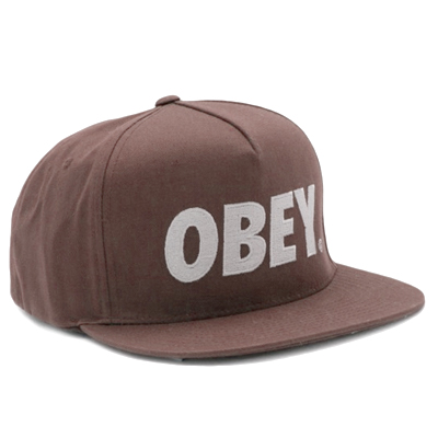 OBEY Snap Back Cap THE CITY LOGO brown/white