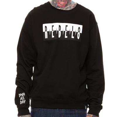 REBEL8 Sweater THE SHOT black/white