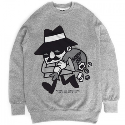 BANDITISM Sweater THIEF heather grey