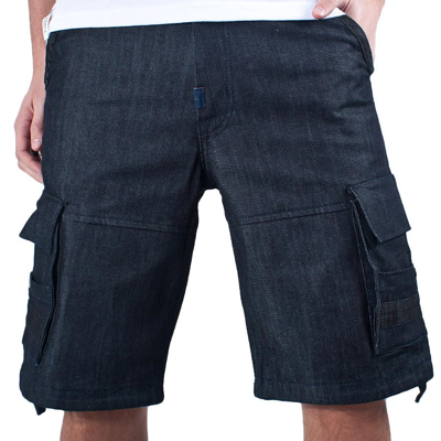 LRG Denim Cargo Shorts THINK LEGACY raw indigo