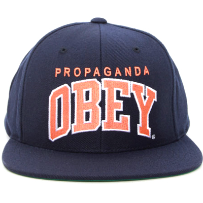 OBEY Snap Back Cap THROW BACK navy/orange