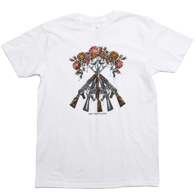 OBEY T-Shirt TONS OF GUNS white