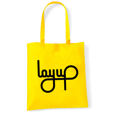 LAYUP Tote Bag LOGO yellow
