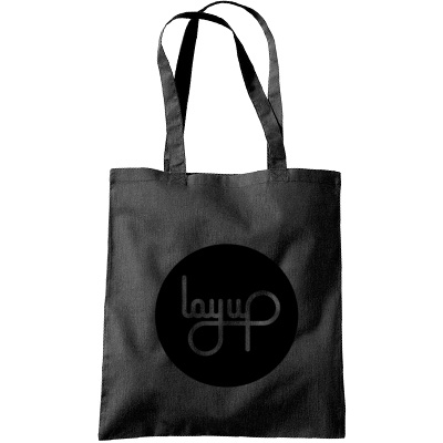 LAYUP Tote Bag CIRCLE LOGO black/black