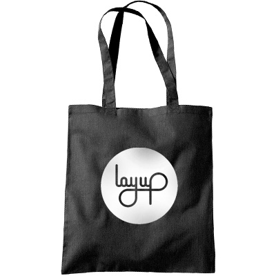 LAYUP Tote Bag CIRCLE LOGO black/white