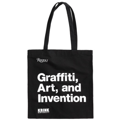 KRINK Tote Bag Graffiti, Art, and Invention black