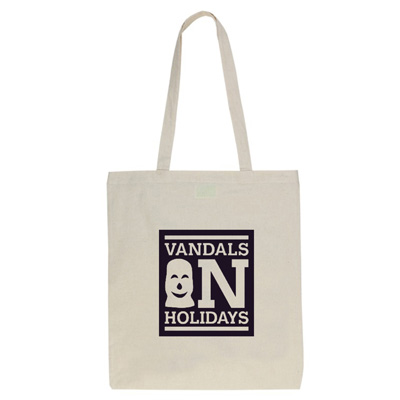 VANDALS ON HOLIDAYS Tote Bag BOX LOGO natural/black