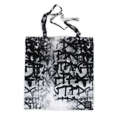 TPDG Tote Bag PATTERN black