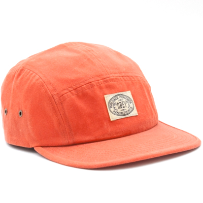 OBEY 5Panel Cap TRAIL orange