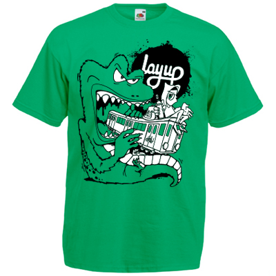 LAYUP X ROSY ONE T-Shirt TRAIN MONSTER kelly green