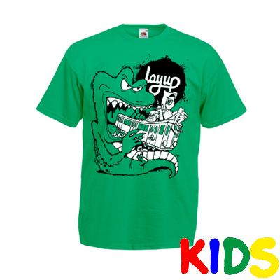 LAYUP X ROSY ONE T-Shirt TRAIN MONSTER kelly green - Kids